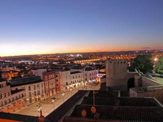 Vista de la ciudad de Badajoz