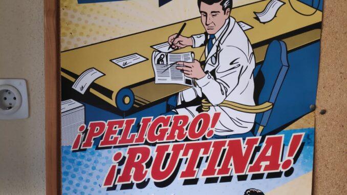 Cartel distribuido en los centros de salud