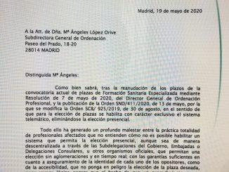 Carta a la subdirectora general