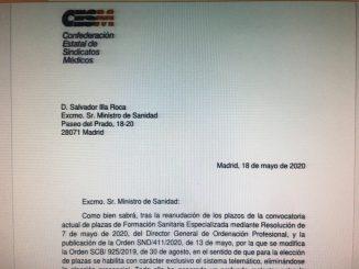 Carta enviada a Salvador Illa