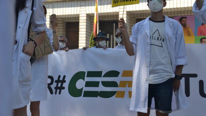 Manifestación convocada por CESM.