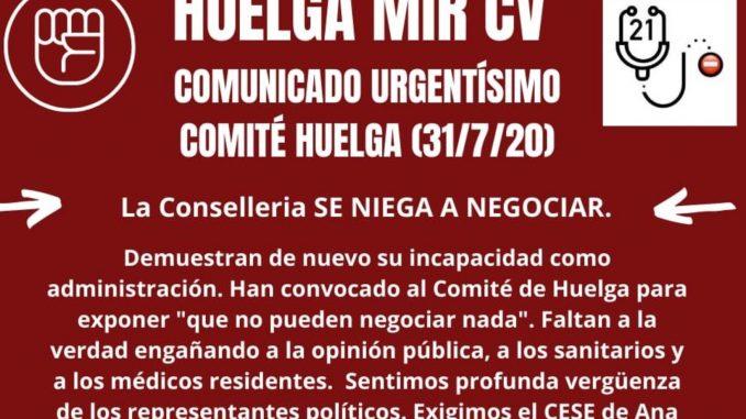 Los MIR valencianos mantienen su huelga