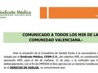 Comunicado de CESM-CV