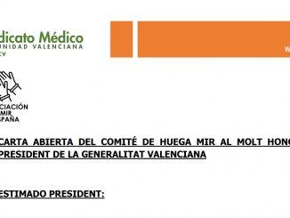 Le piden al presidente valenciano que les escuche.