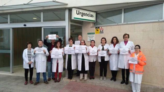 Trabajadores del Centro de Salud de Llerena.