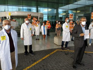 Manifestación de los médicos baleares en la huelga nacional convocada en octubre