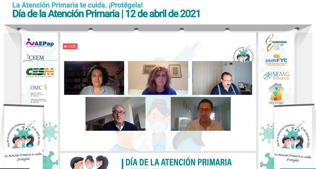Los participantes en el evento online