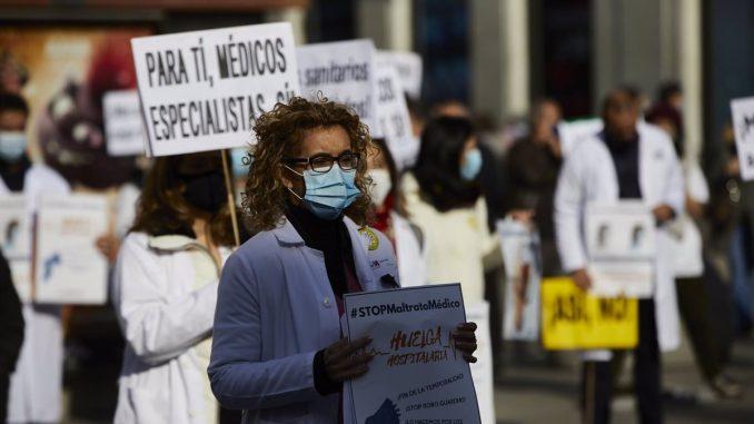 Manifestación de médicos en Madrid.