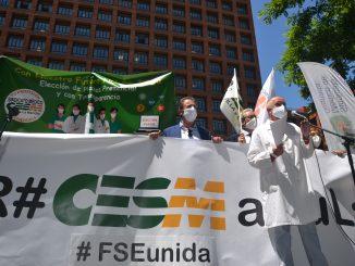 Momento de la manifestación del pasado 25 de mayo.