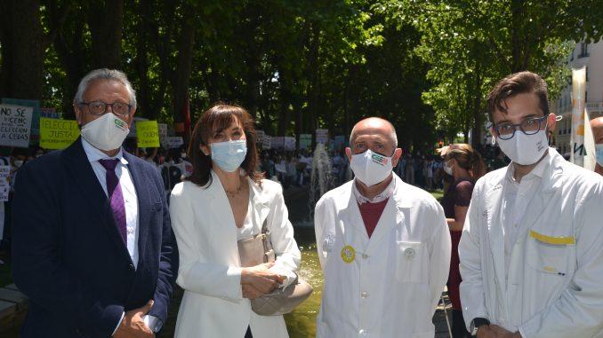 Tomás Toranzo (CESM), Pilar Garrido (Facme), Gabriel del Pozo (CESM) y Domingo A. Sánchez (CGCOM).