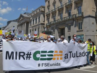 Momento de la manifestación del pasado 8 de junio.