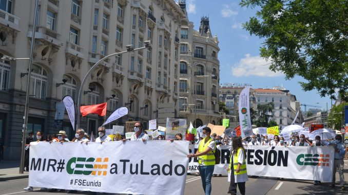 Momento de la manifestación del 8 de junio.