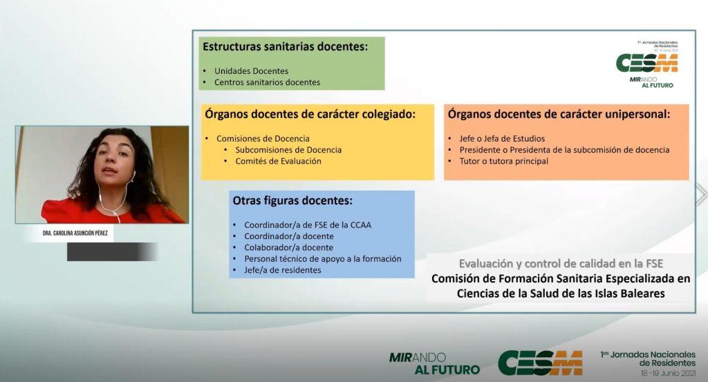 Momento de la intervención de Carolina Pérez.