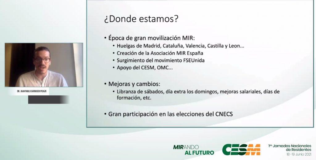 Momento de la intervención de Juan Pablo Carrasco.