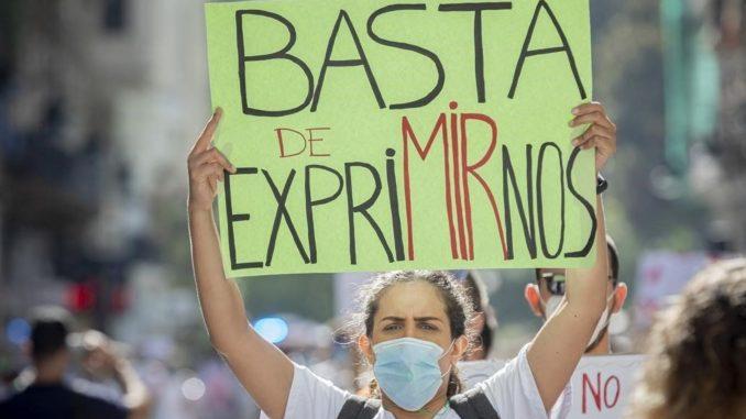 Manifestación MIR en Comunidad Valenciana.