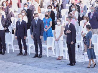 Momento del acto homenaje el pasado mes de julio.