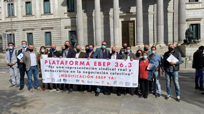 Imagen de la presentación frente al Congreso de los Diputados.